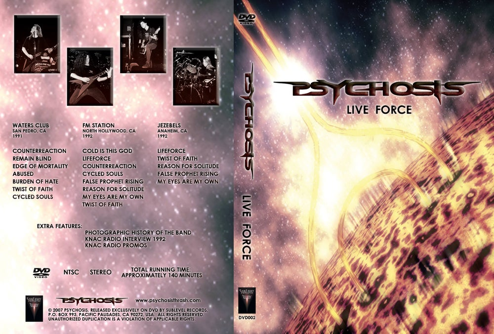 Image of Psychosis - Live Force (DVD-R)