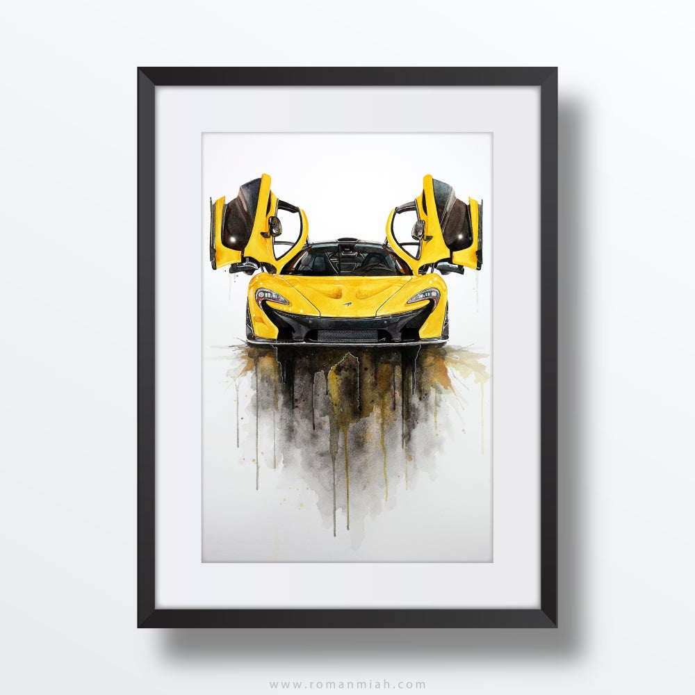 Image of McLaren P1 Original Watercolour Painting