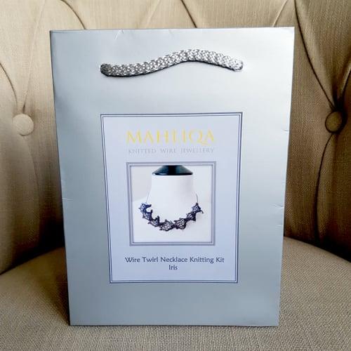 Image of TWIRL NECKLACE KNITTING KIT - Iris