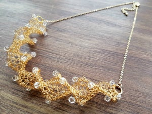 Image of TWIRL NECKLACE KNITTING KIT - Gold