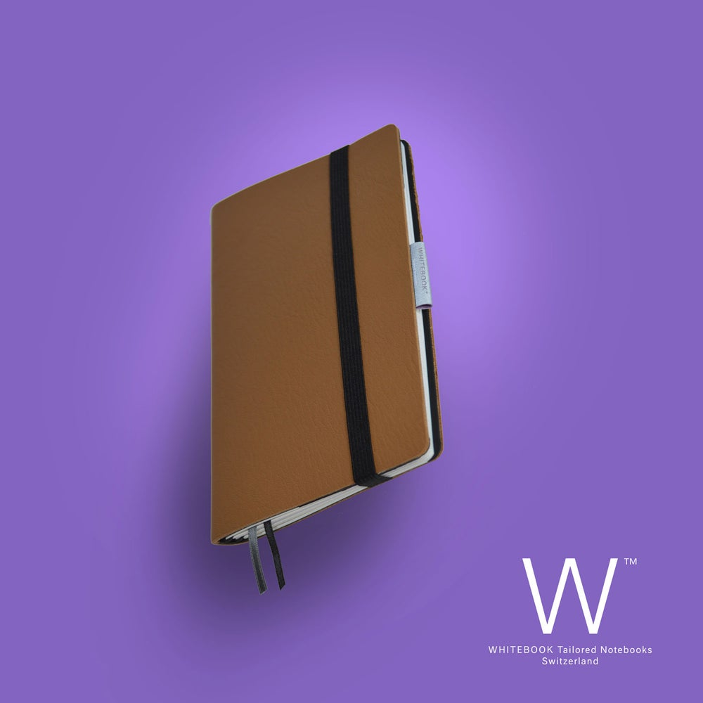 Image of Whitebook Mobile, S209, soft french calf leather, Café au Lait
