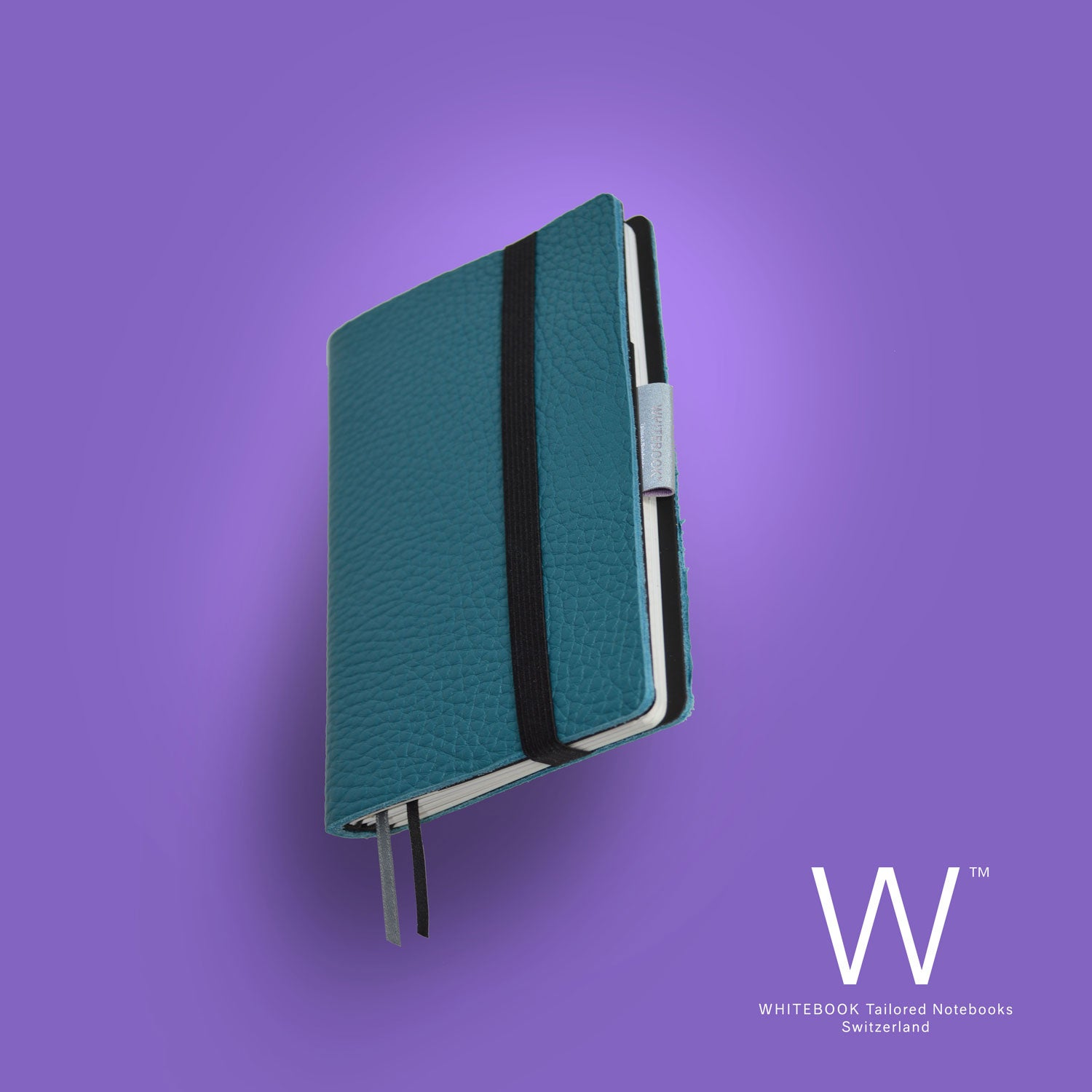 Image of Whitebook Mobile, S298, thick french calf leather, LV bleu canard
