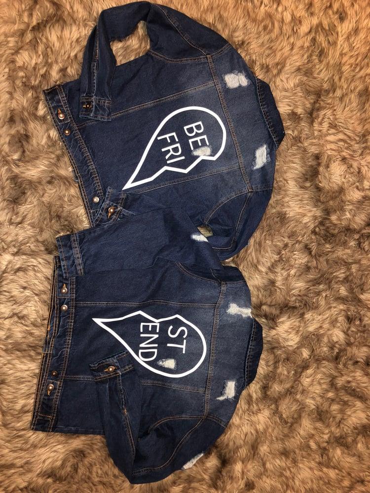 Image of 💔BESTFRIEND Denim Jacket (order includes 2 jackets)