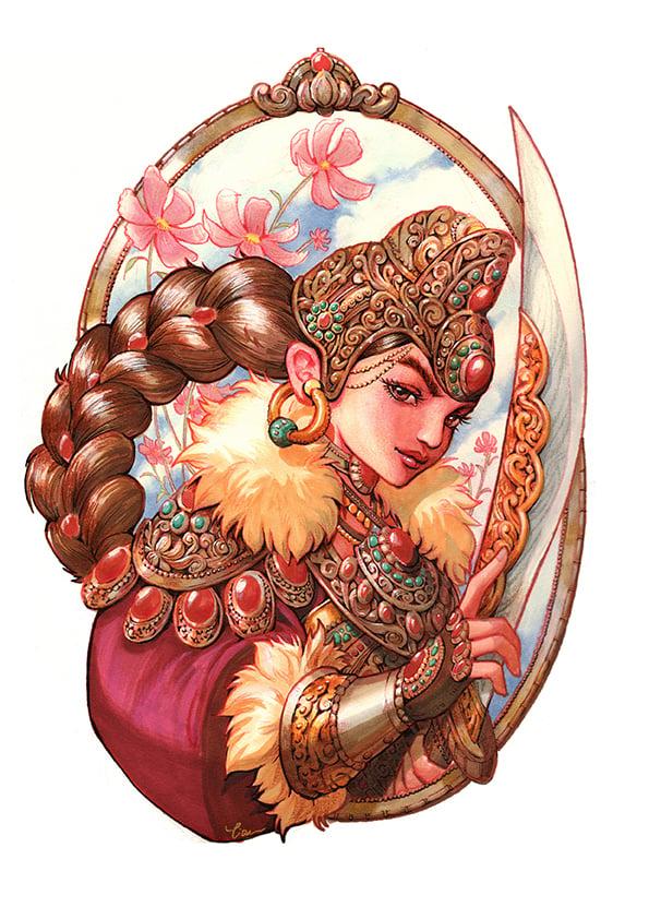 Image of Warrior Princess Print