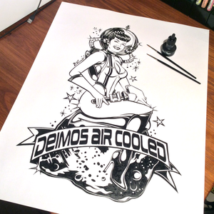 Image of PIN-UP DEIMOS - Ink on paper