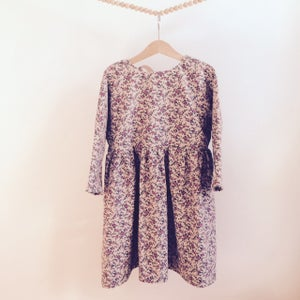 Image of Rosa Dress-cream or grey millefleurs corduroy