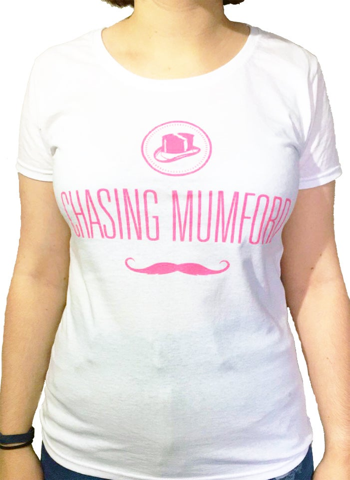 Image of CM Ladies Skinny Fit Moustache T-Shirt