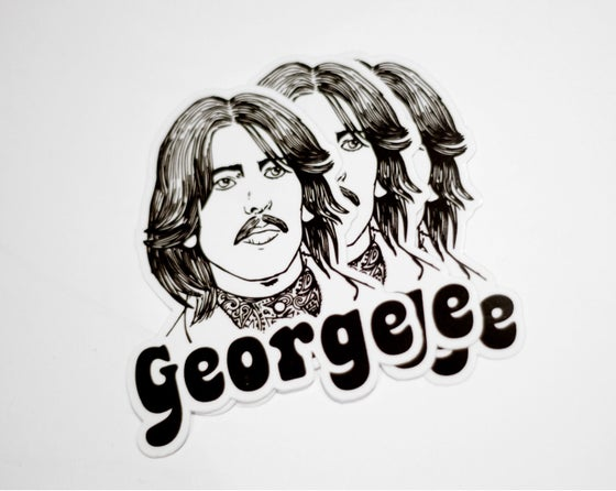 Image of George Harrison Vinyl sticker