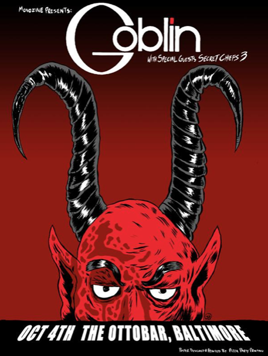 Image of 2015 GOBLIN Limited Edition Baltimore Maryland Concert Screen Print