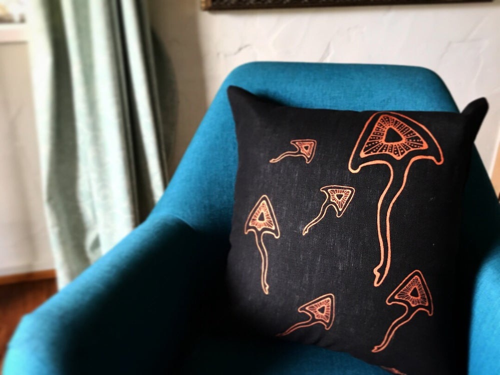 Image of 100% Linen Stingray Cushion Covers