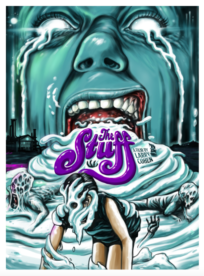 Image of 2015 THE STUFF Limited Edition Screen Print by Ghoulish Gary Pullin