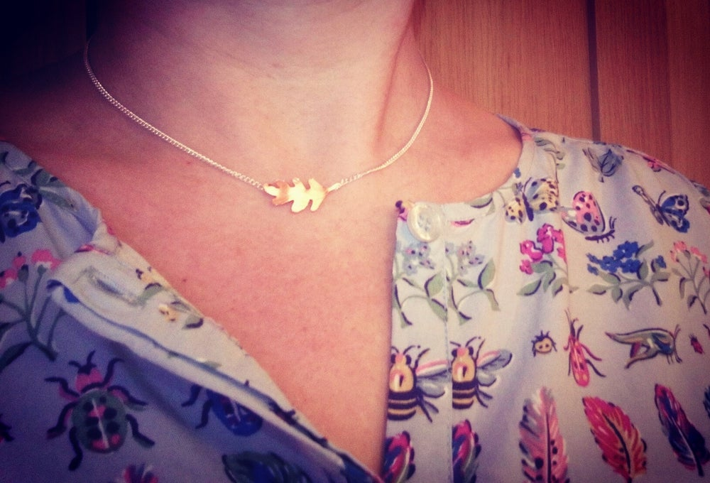 Image of Single Oak Leaf Necklace