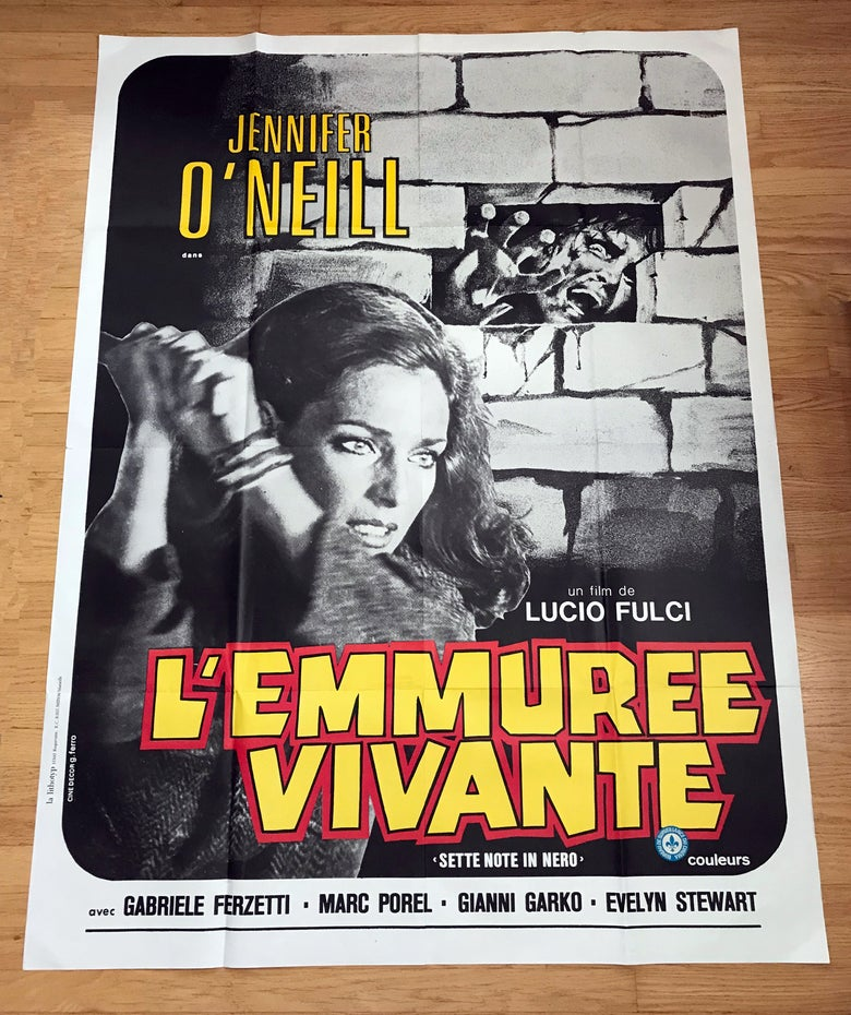 Image of 1977 THE PSYCHIC Original French Grande Movie Poster