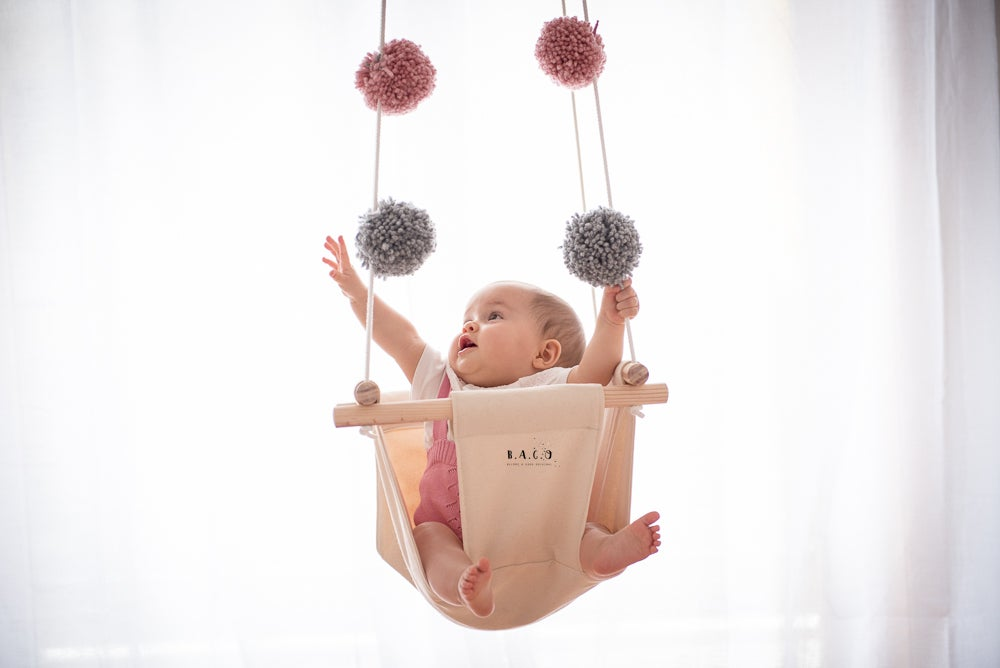 Image of Pompom baby Swing - Nude