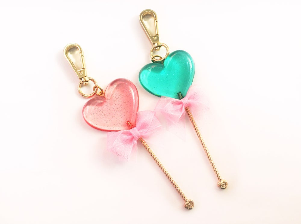 Image of Heart Lollipop Bag Charm
