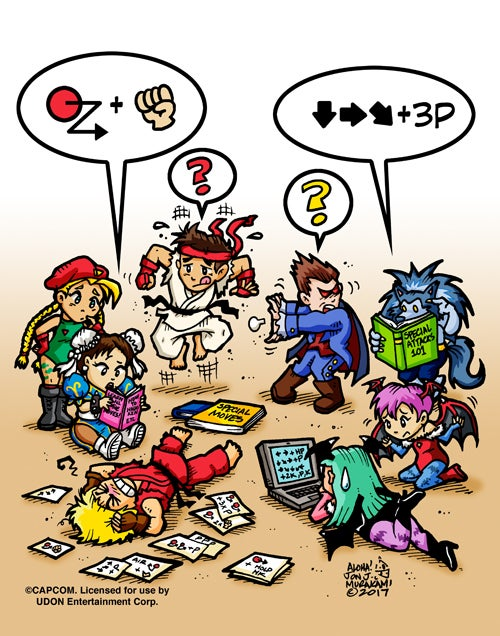 Image of Street Fighter vs Dark Stalkers: Remember Trying to Learn all the Special Moves? print