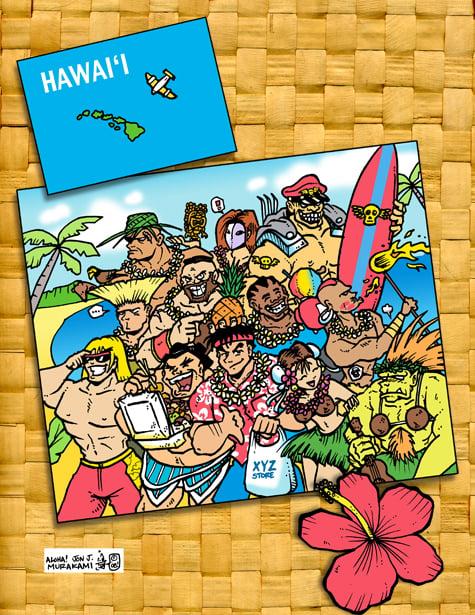 Image of Street Fighter Postcard print