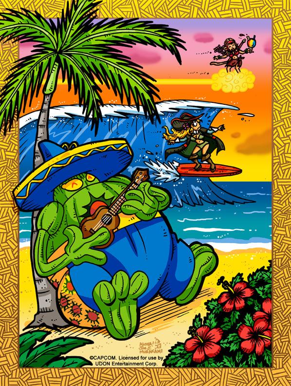 Capcom Fighting Tribute: Hawaii Vacation 2015 print