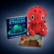 "Image of C is for Cthulhu: SIGNED Red Cthulhu plush and ""Sweet Dreams Cthulhu"" set"