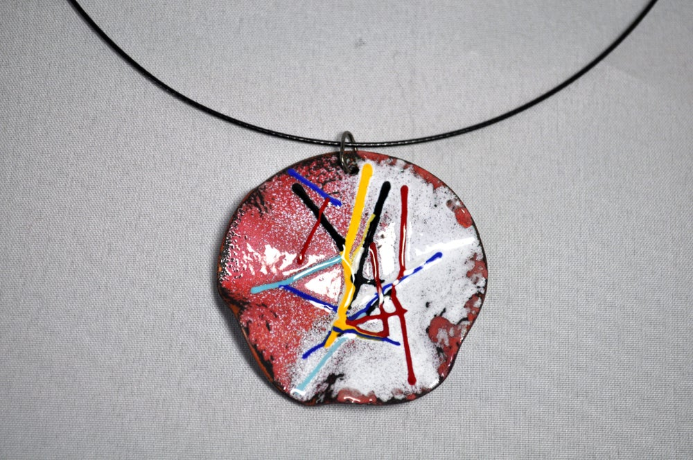 Image of Round & Bent Pendant (coloured sticks)