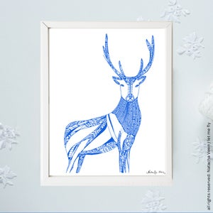 Image of *Blue Deer*_A3