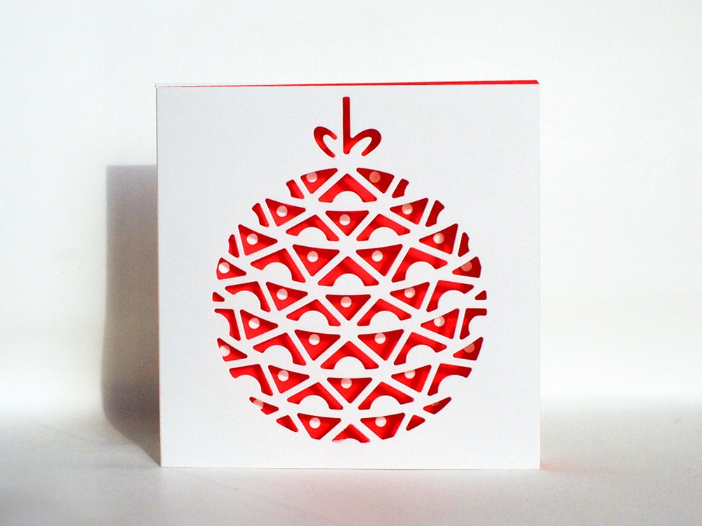 Image of 4 x Christmas Bauble Cards