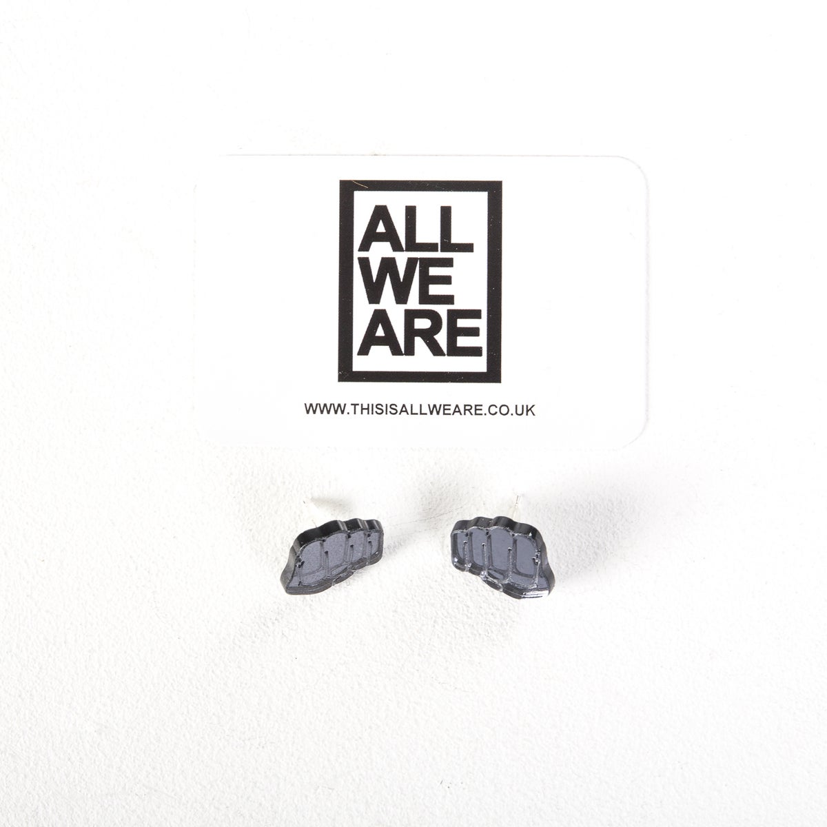 Image of Punch Dark Silver Earrings