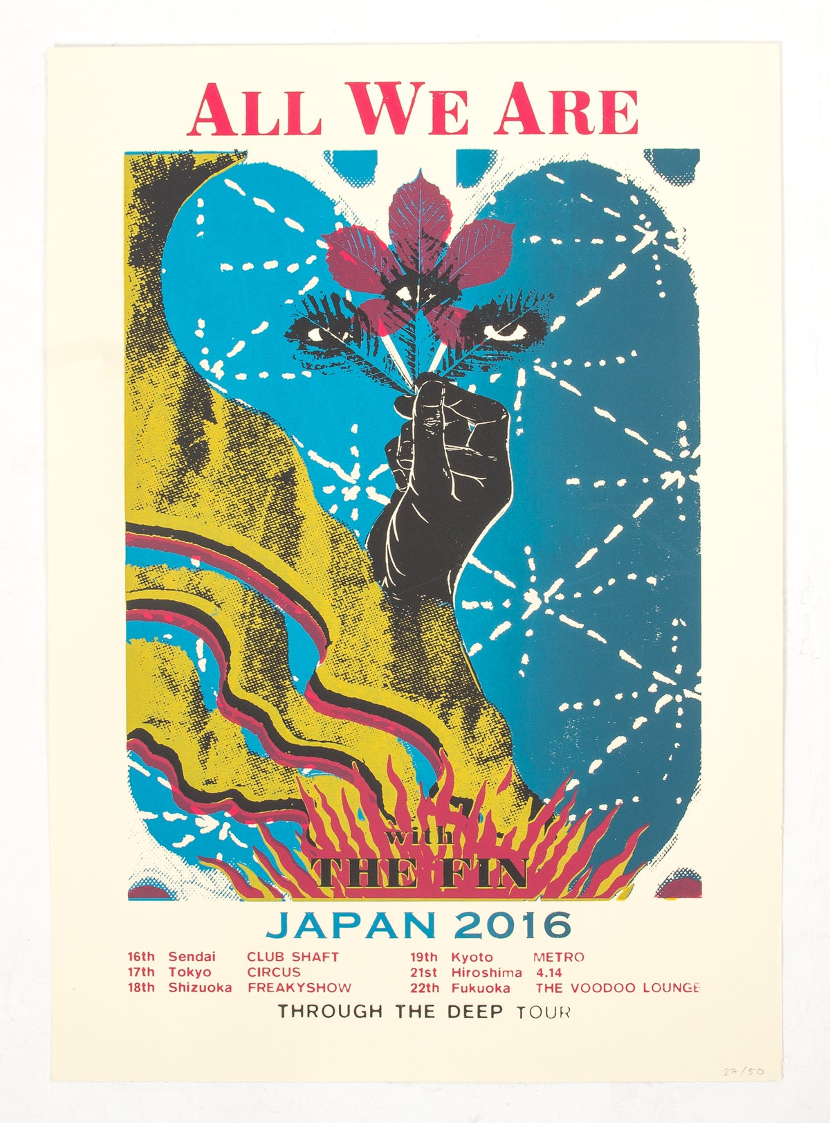 Image of Japan Tour Limited Edition Screen Printed Poster