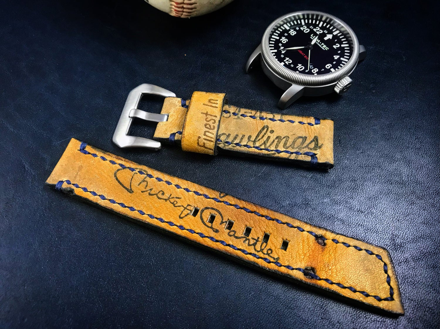 Image of Monograph Baseball Glove Watch Band Series