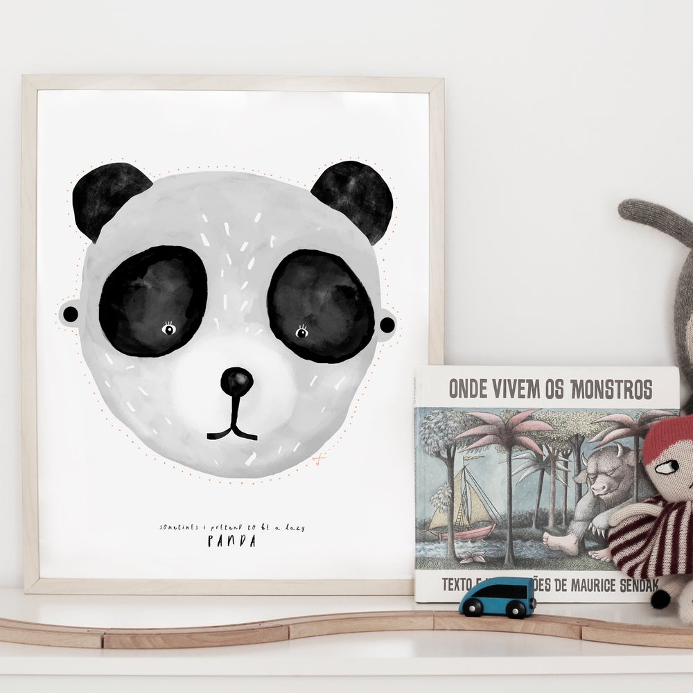 Image of ART PRINT | PANDA MASK