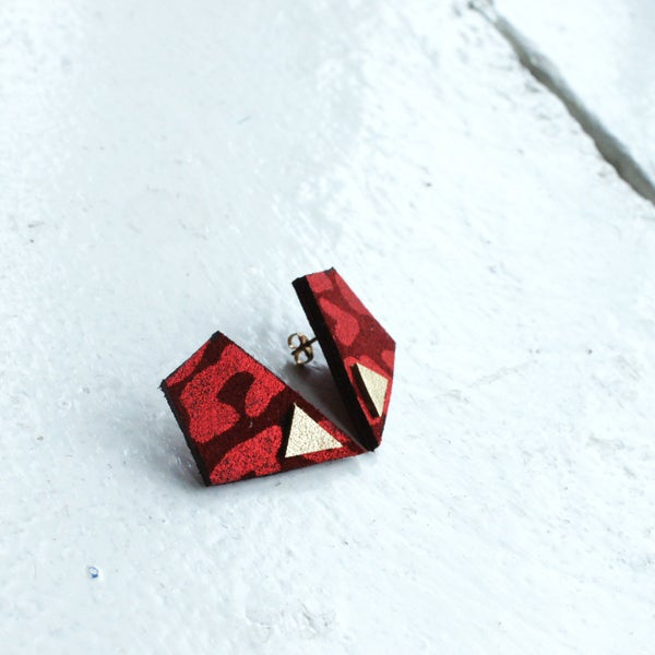 Image of Revival earrings - red