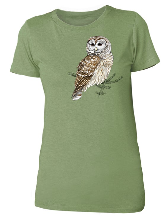 Image of Barred Owl ladies shirt
