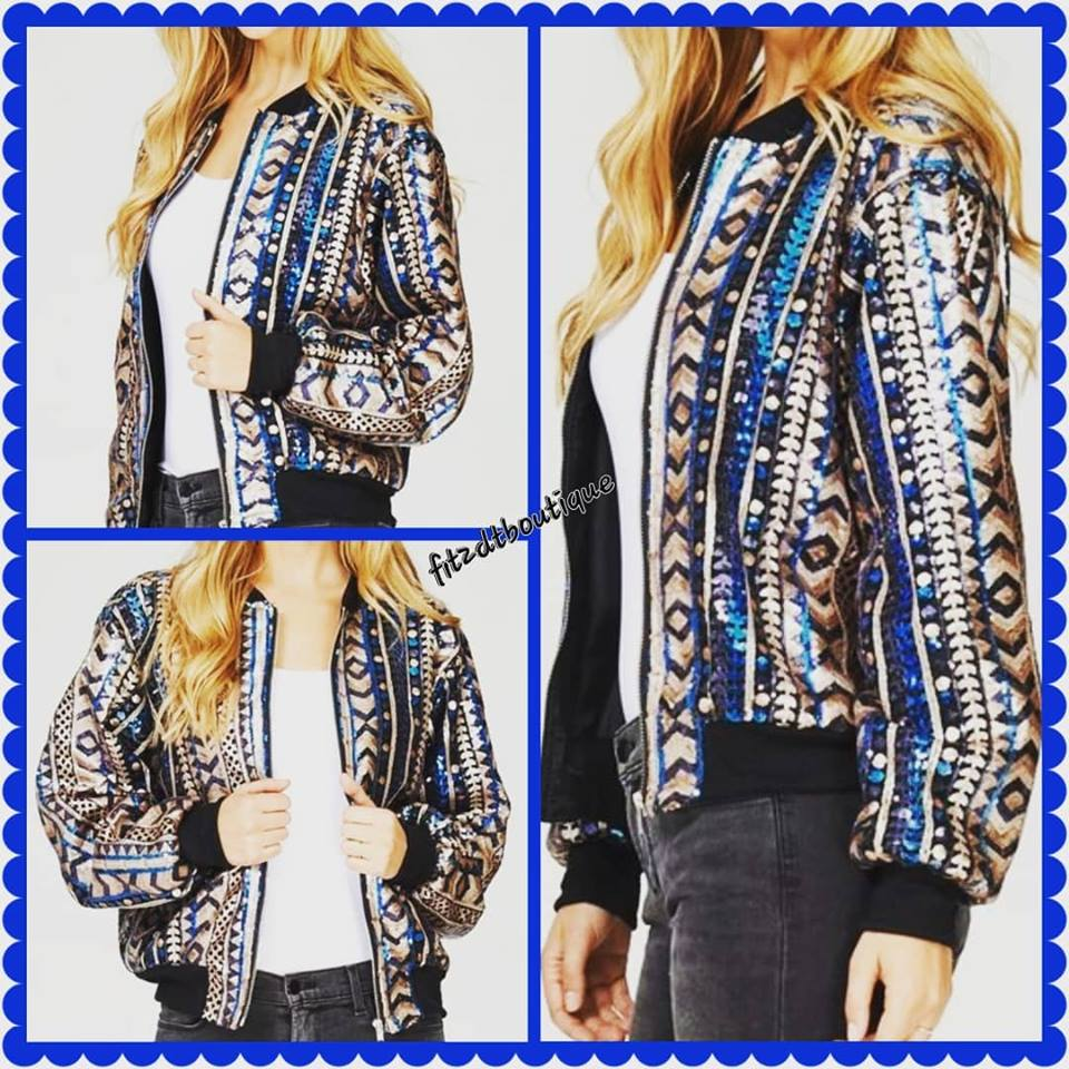 Image of The Sequined Bomber Jacket
