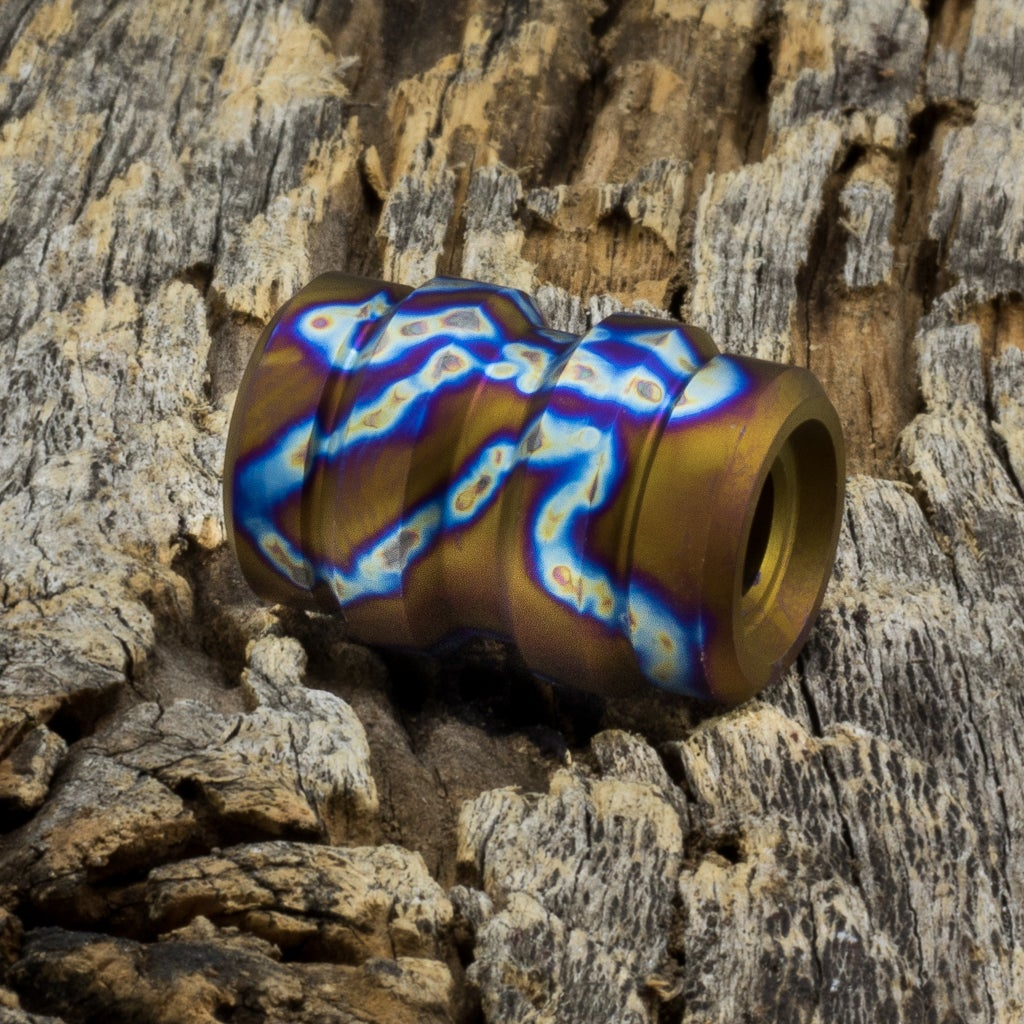 Image of Keg Snail Trail Ti Bead #1