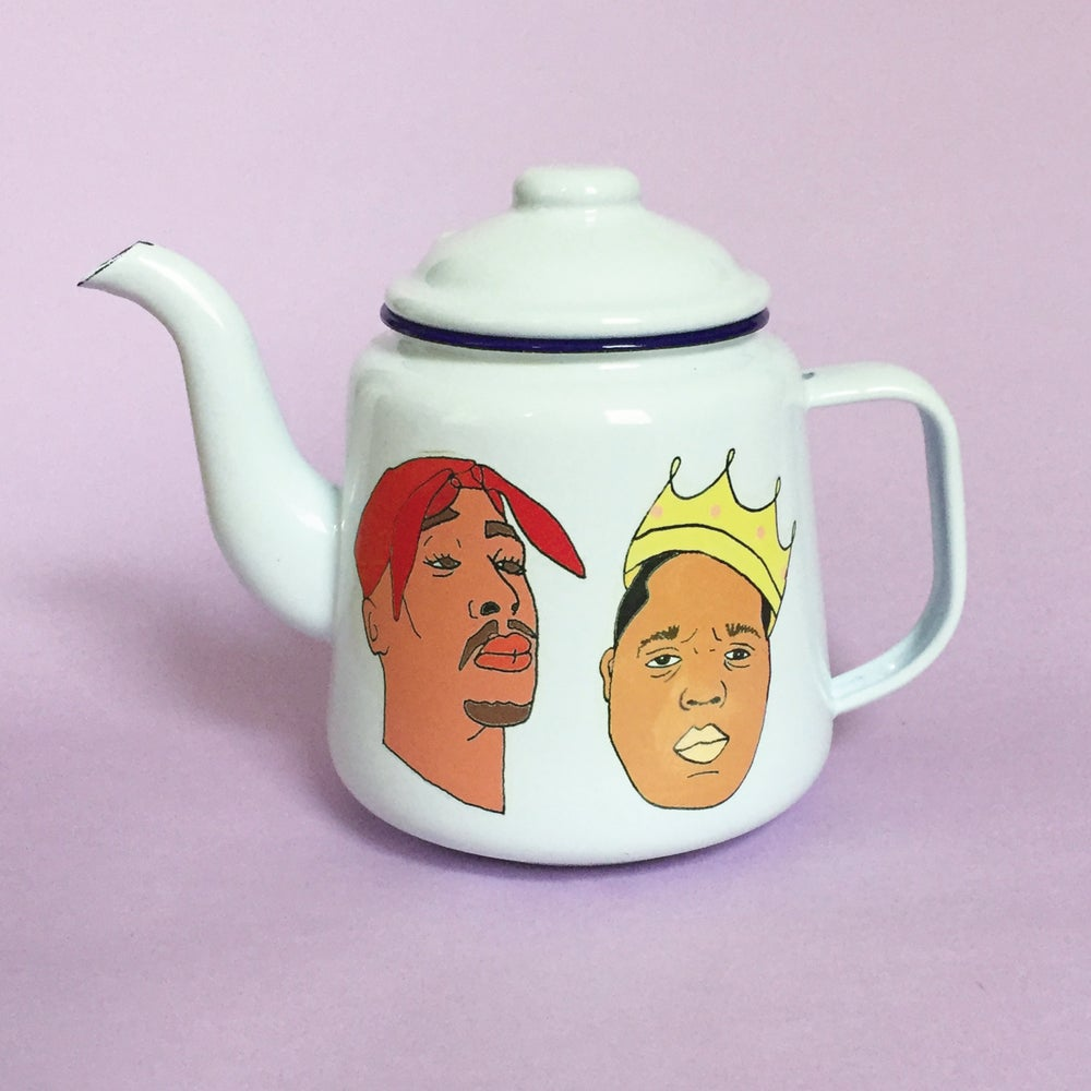 Image of Biggie and Tupac Teapot