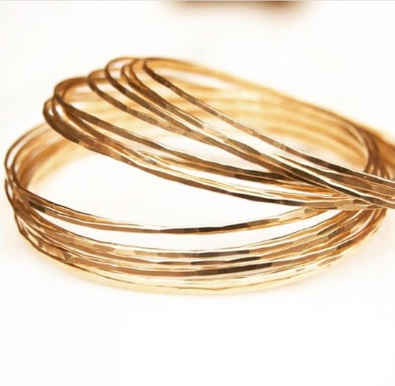 Image of Solid Gold Light Bangle