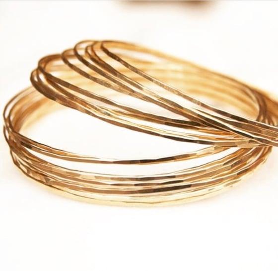 Image of Solid Gold Light Bangle