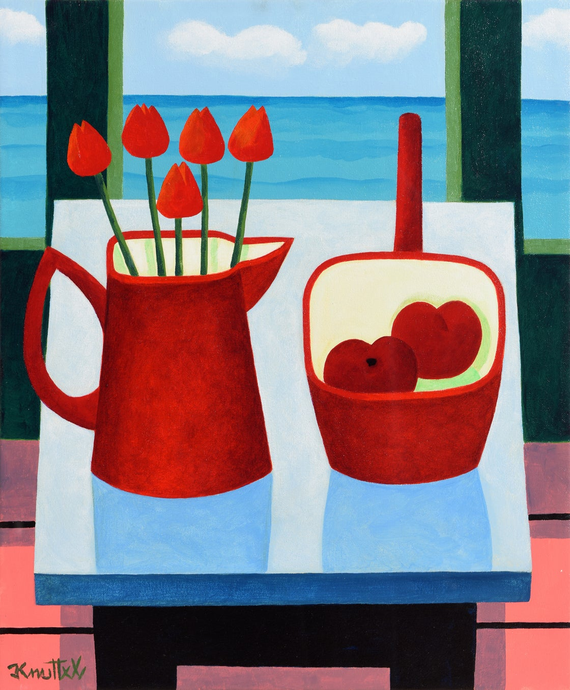 Image of TULIPS & PLUMS (FRAMED)