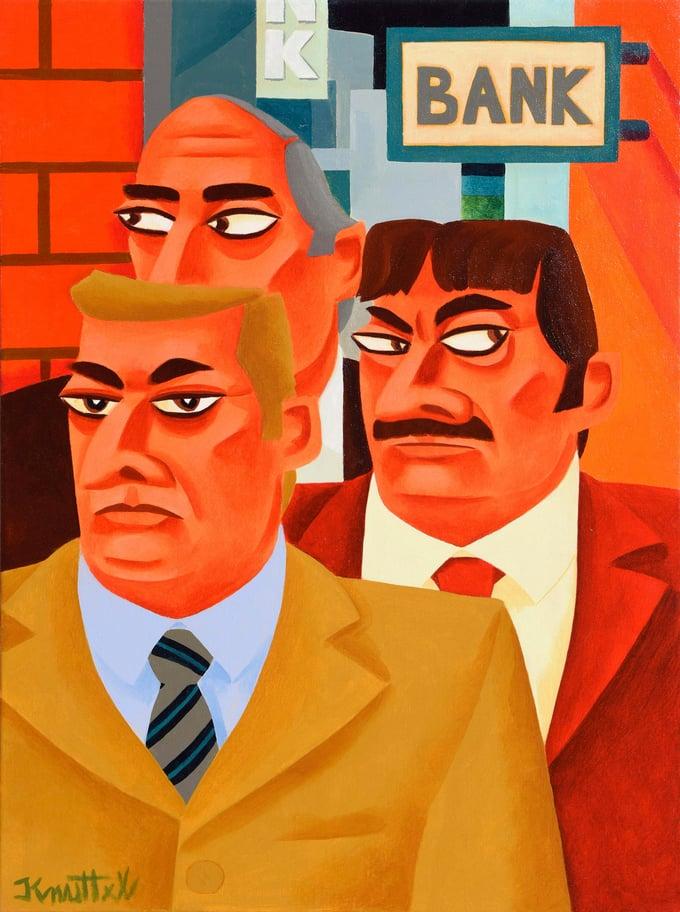 Image of BANK JOB (FRAMED)