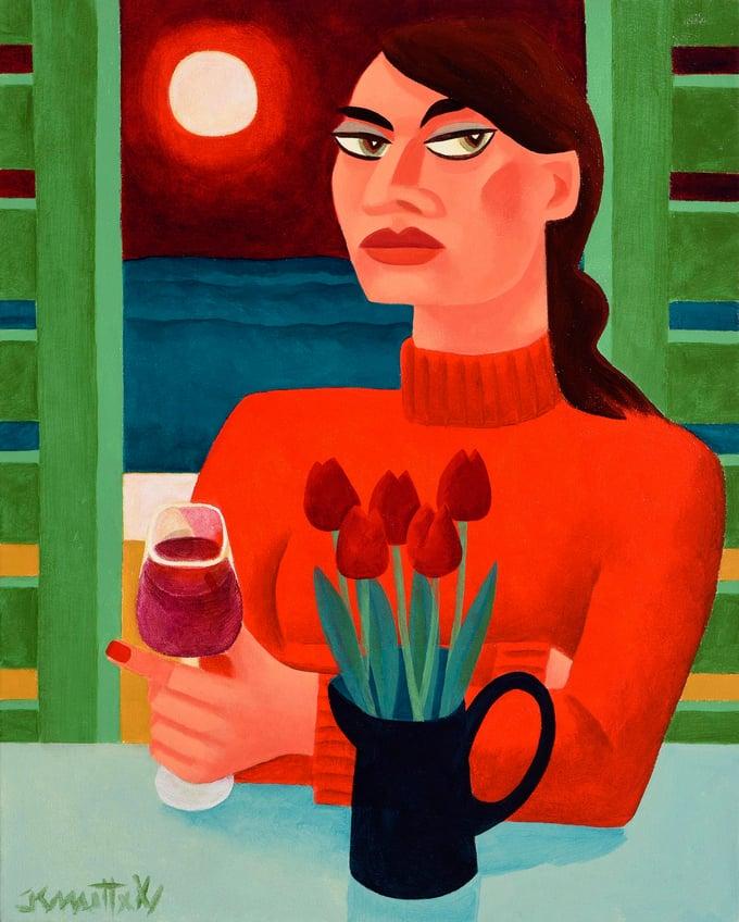Image of RED FOR ME (FRAMED)