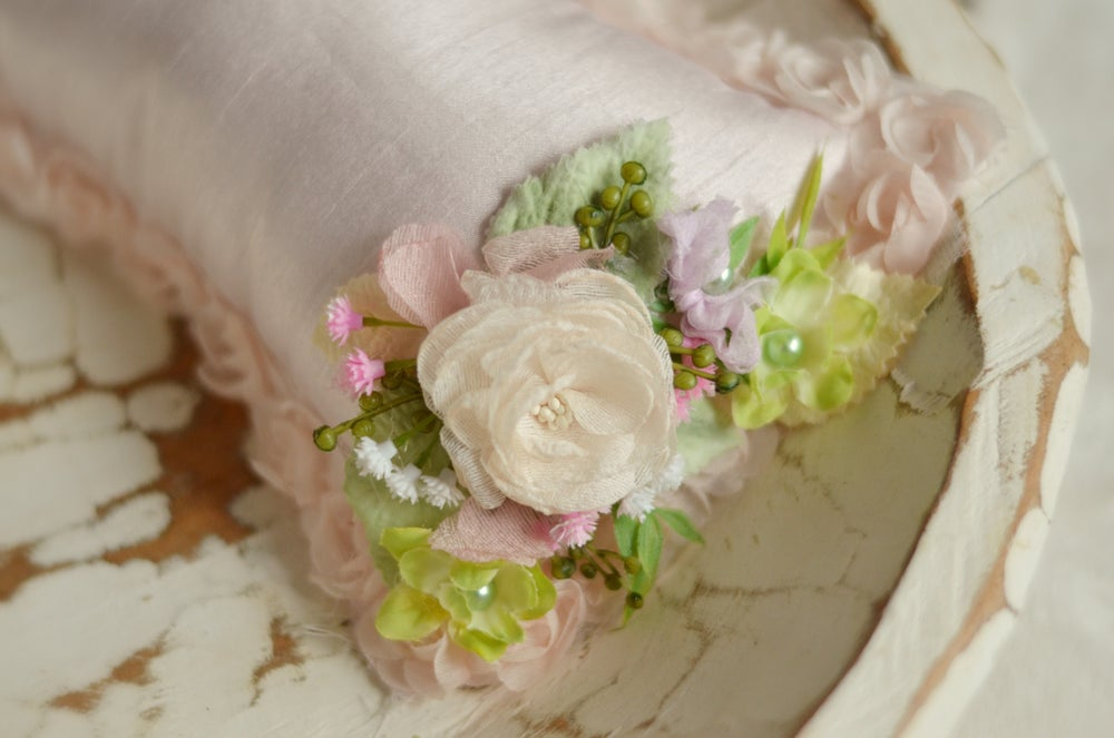 Image of Secret garden pillow/headband set (pink)