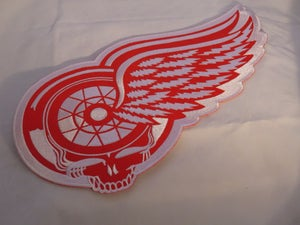 Image of Grateful Wings LARGE Iron on patch