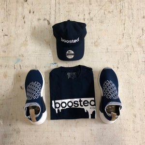 """Image of BOOSTED """" WHITE PRINT """" T-SHIRT"""
