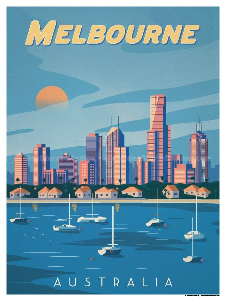 Image of Melbourne Poster