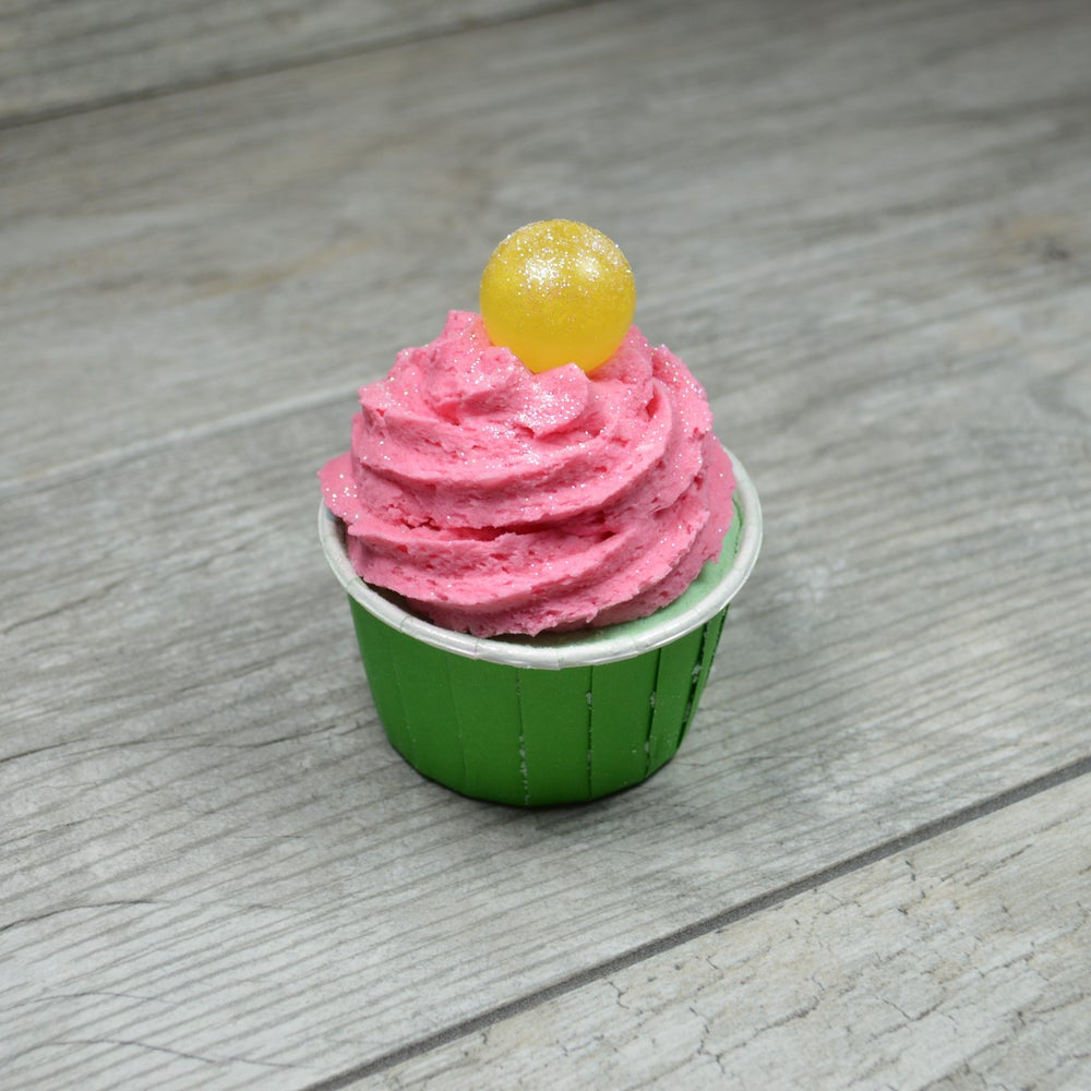 Image of Cactus Flower Bath Bomb Cupcake