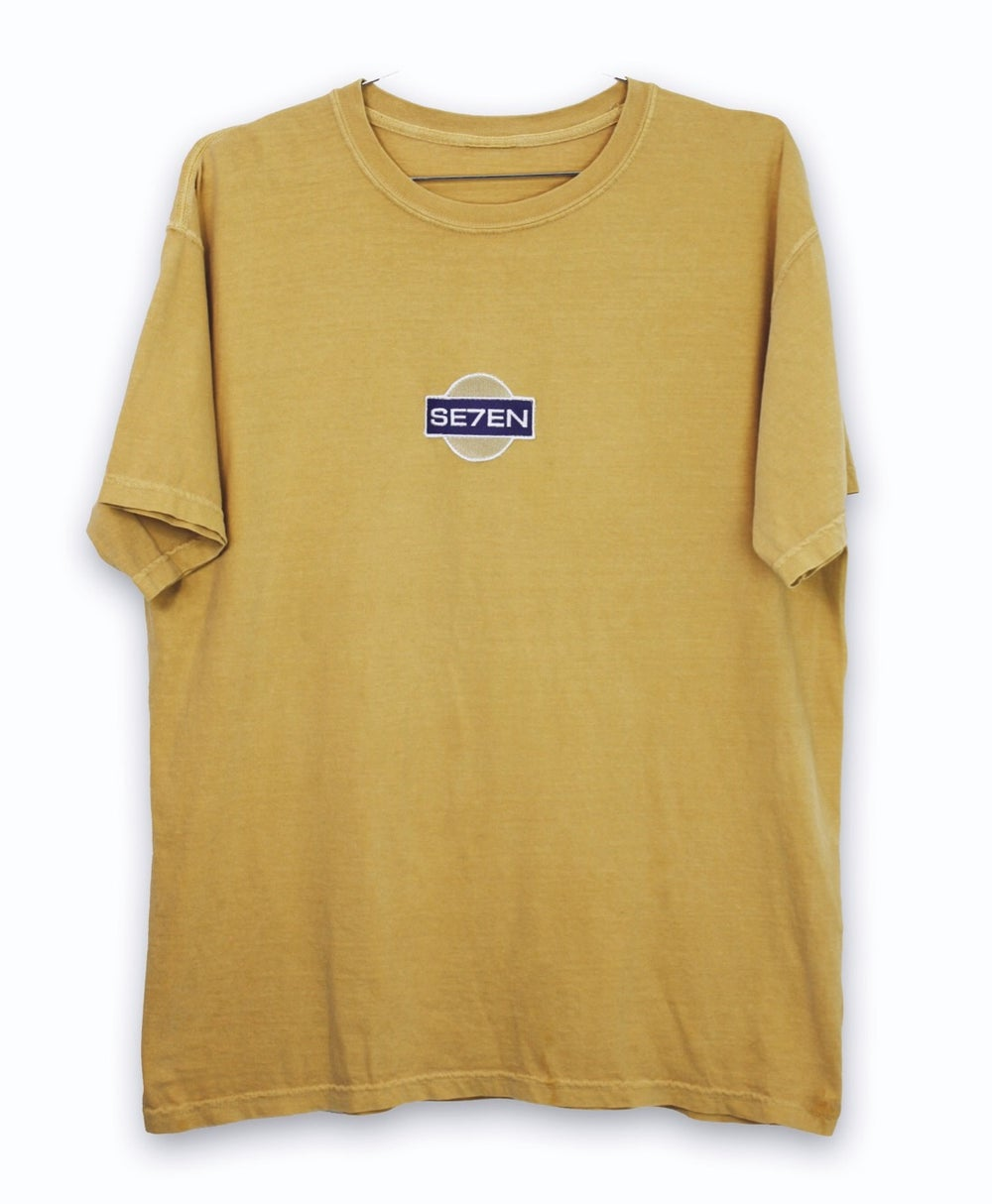 Image of WASHED MUSTARD PATCH TEE