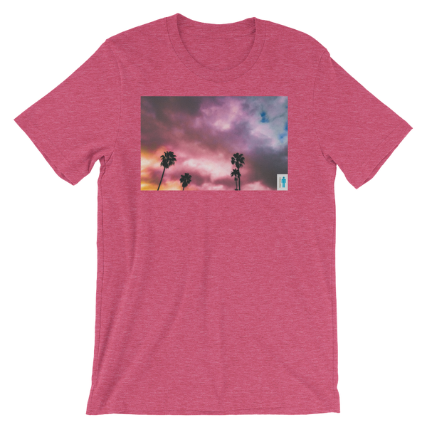 "Image of ""Palms and Perp"" Limited T-Shirt. (Rasberry)"