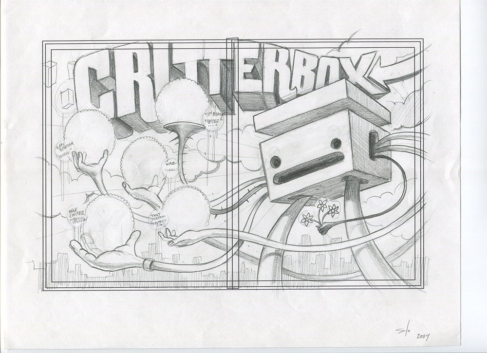 Image of Critterbox Ad Sketch Original