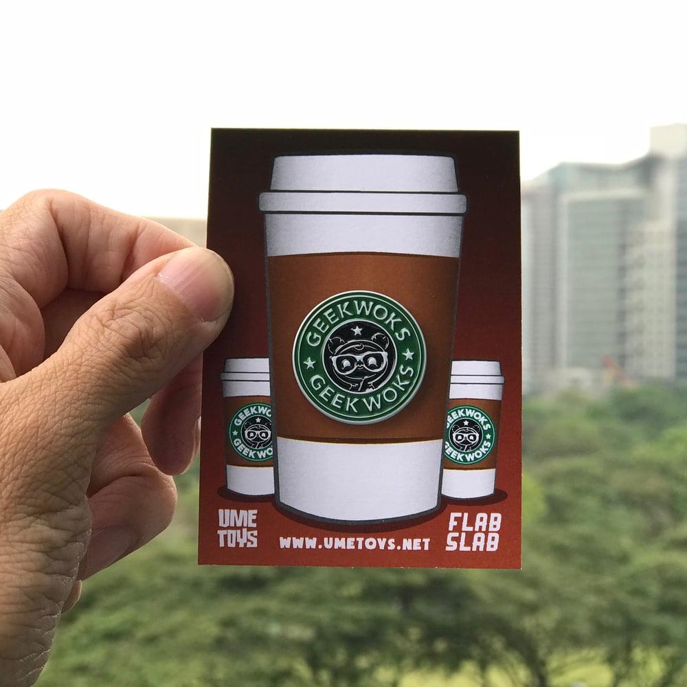 Image of Geekwok Coffee enamel pin