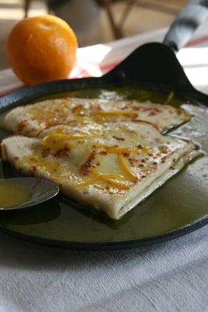 Image of crêpes suzette